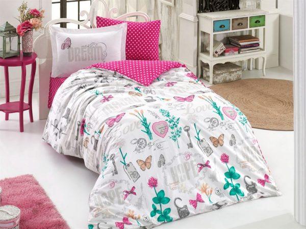 купить Постельное Белье Hobby Poplin Rossela Розовый 160x220