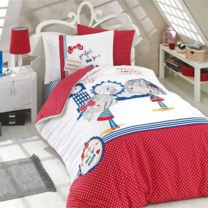Постельное Белье Hobby Poplin Smile Красный 160×220