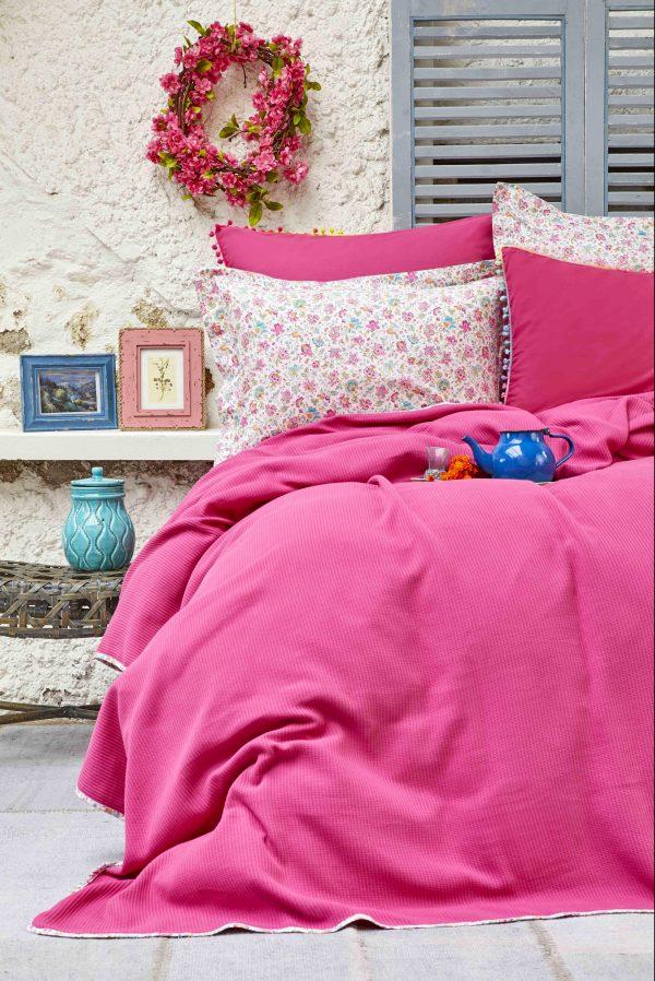 купить Постельное белье Пике Karaca Home - Picata fusya 2018-2 200x220