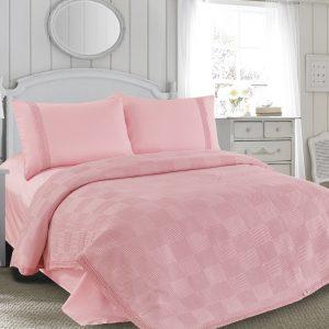 Постельное белье Пике Love You розовый 200×220