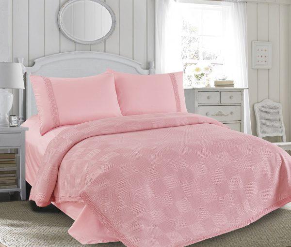 купить Постельное белье Пике Love You розовый