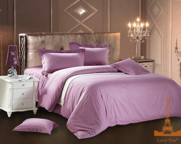 купить Постельное белье Сатин Love You светло-фиолетовый