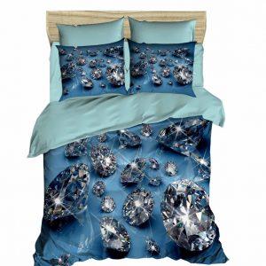Постельное белье ТМ Lighthouse Ранфорс 3D Diamonds 200×220