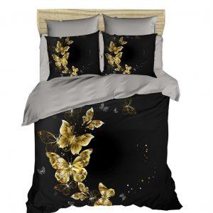 Постельное белье ТМ Lighthouse Ранфорс 3D Golden Butterfly 200×220