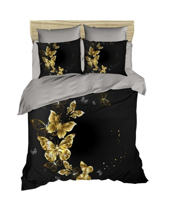 купить Постельное белье ТМ Lighthouse Ранфорс 3D Golden Butterfly 200x220