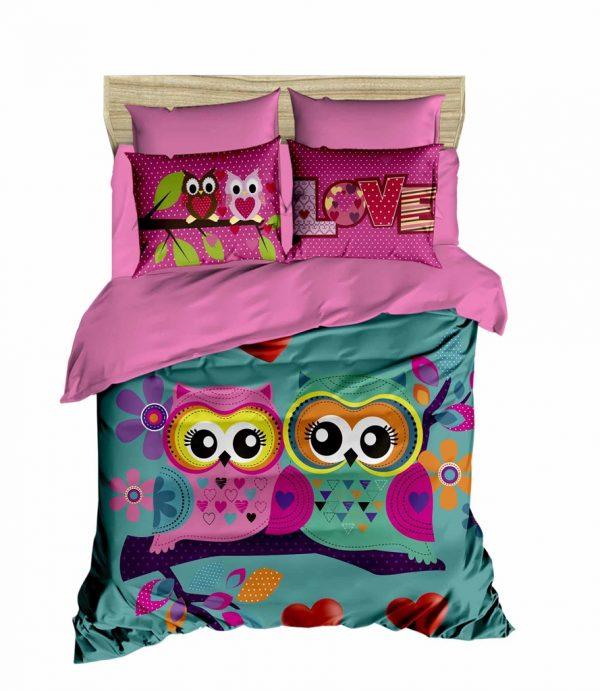 купить Постельное белье ТМ Lighthouse Ранфорс 3D Owls In Love 200x220