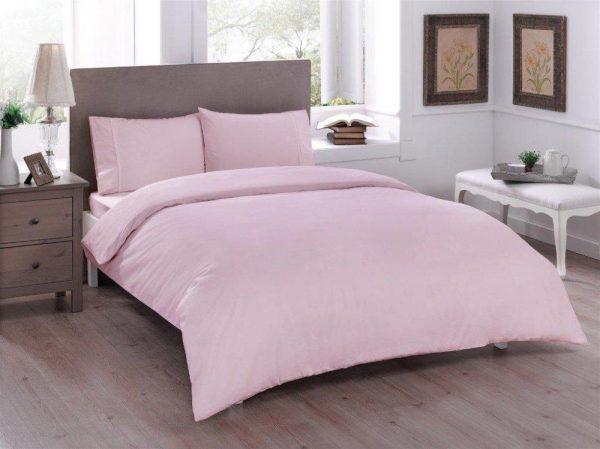 купить Постельное белье ТМ TAC Basic Pink Ранфорс 200x220