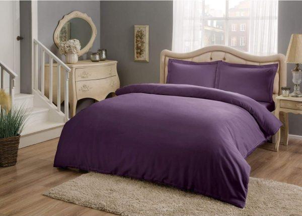 купить Постельное белье ТМ TAC Basic Purple Сатин 200x220