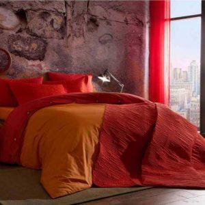 Постельное белье ТМ TAC Colorful Orange Ранфорс 200×220