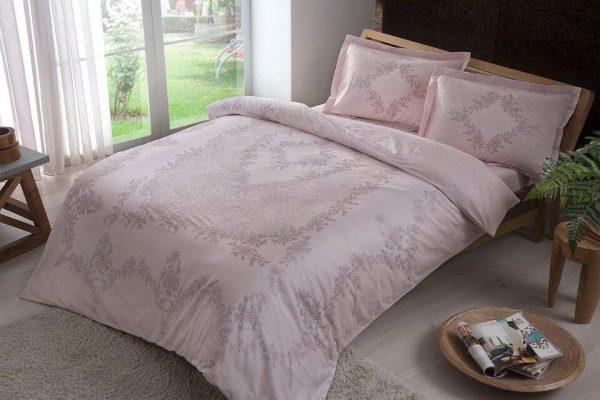 купить Постельное белье ТМ TAC Justine Pink Сатин 200x220