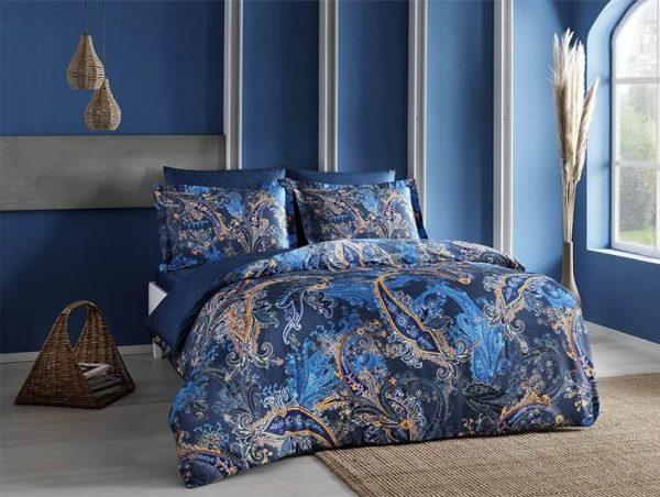 купить Постельное белье ТМ TAC Marisol Blue Сатин-Digital 200x220