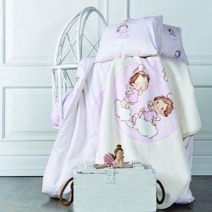 Постельное белье для младенцев Karaca Home – Bulut розовое 100×150