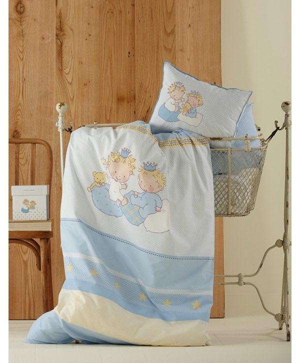 купить Постельное белье для младенцев Karaca Home - Mini голубое 100x150
