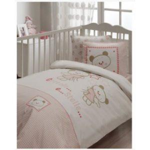 Постельное белье для младенцев Karaca Home – Stelle розовый 100×150