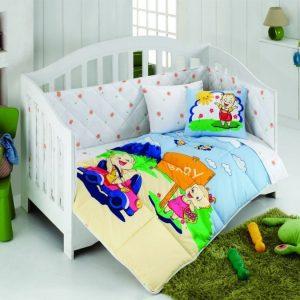 Постельное белье для младенцев Kristal – Afacan голубой 100×150