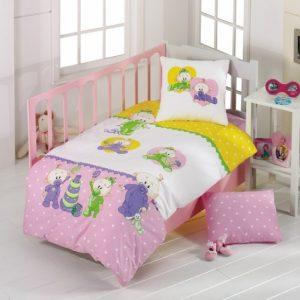 Постельное белье для младенцев Kristal – Bebis розовый 100×150