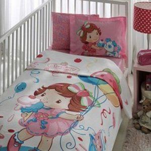 Постельное белье для младенцев TAC Disney Пике – Strawberry Capcake baby 100×150