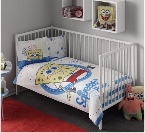 купить Постельное белье для младенцев TAC Disney - Sponge Bob Baby 100x150