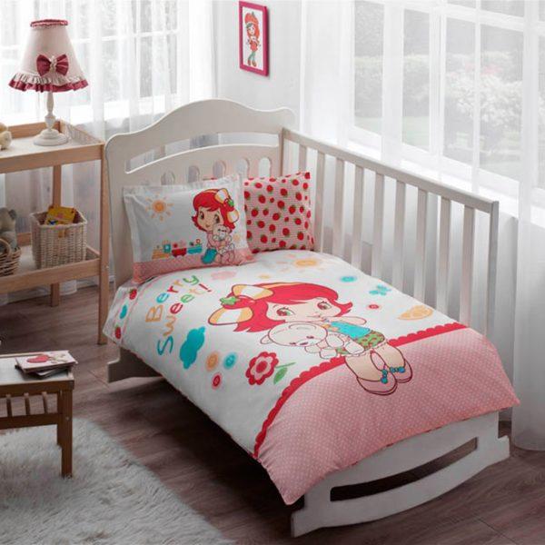 купить Постельное белье для новорожденных ТМ TAC Strawberry Shortcake Sleepy Baby 100x150