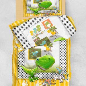 Постельное белье для подростков Eponj Home 3D Micro Satin – Stompy Sari-Yesil 160×220