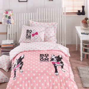 Постельное белье для подростков Eponj Home – Boston Pembe 160×220