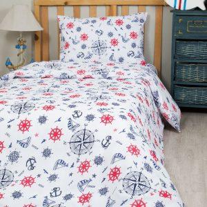 Постельное белье для подростков Lotus Young – Anchor синий 145×210