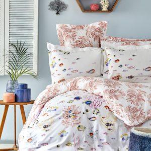 купить Постельное белье с Пике Karaca Home - Coral mercan 2019-2 220x230