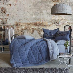 Постельное белье с одеялом Karaca Home – Istanbul indigo 2019-2 индиго 200×220