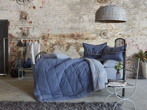 купить Постельное белье с одеялом Karaca Home - Istanbul indigo 2019-2 индиго 200x220