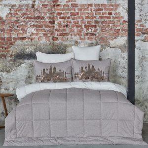 Постельное белье с одеялом Karaca Home – Londra bej 2019-2 200×220