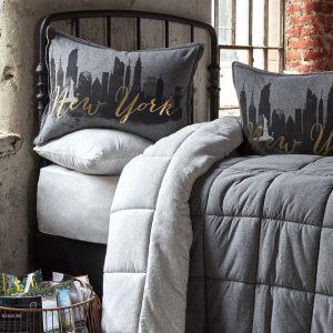 Постельное белье с одеялом Karaca Home – New York gri 2019-2 200×220