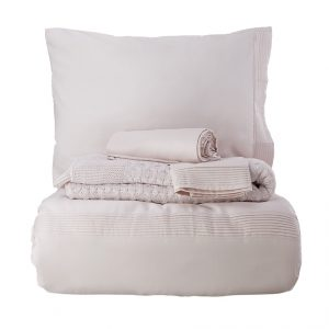 Постельное белье с пледом Karaca Home Brezza pudra 2018-2 200×220