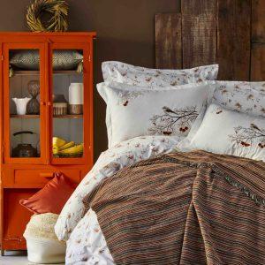 Постельное белье с пледом Karaca Home Morena kahve 2019-1 200×220