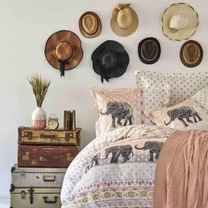 Постельное белье с пледом Karaca Home Sandy blush 2019-1 200×220