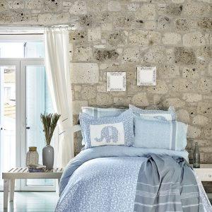 Постельное белье с покрывалом и Пике Karaca Home – Zilonis mavi 2019-2 200×220