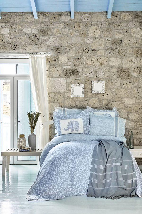 купить Постельное белье с покрывалом и Пике Karaca Home - Zilonis mavi 2019-2 200x220