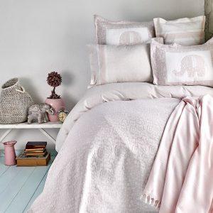 Постельное белье с покрывалом и Пике Karaca Home – Zilonis pudra 2019-2 200×220