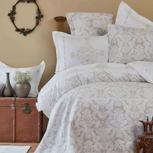Постельное белье с покрывалом, плед Karaca Home – Sonora gold 2019-1 200×220