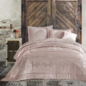 Постельное белье с покрывалом Cotton Box Carmela Pudra 200×220