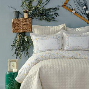 Постельное белье с покрывалом Karaca Home – Heras bej 2019-2 200×220