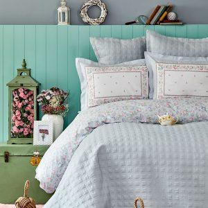 Постельное белье с покрывалом Karaca Home – Heras mavi 2019-2 200×220