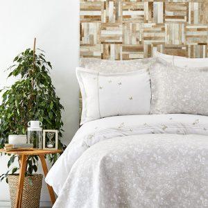 Постельное белье с покрывалом Karaca Home – Mariposa gold 2019-1 200×220