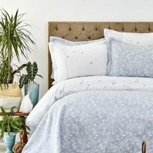 Постельное белье с покрывалом Karaca Home – Mariposa gri 2019-1 200×220