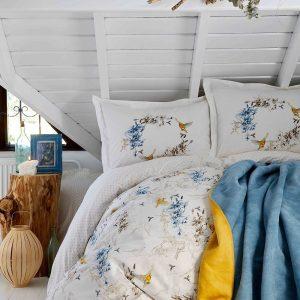 Постельное белье с покрывалом Karaca Home Pabla mavi 2019-1 200×220
