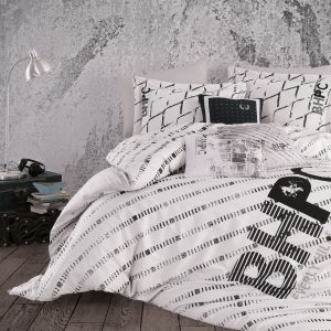 Постельное белье Beverly Hills Polo Club ранфорс BHPC 016 Black 200×220