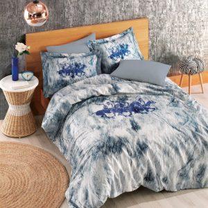 Постельное белье Beverly Hills Polo Club ранфорс BHPC 018 Blue 200×220