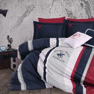 купить Постельное белье Beverly Hills Polo Club ранфорс BHPC 023 Dark Blue 200x220