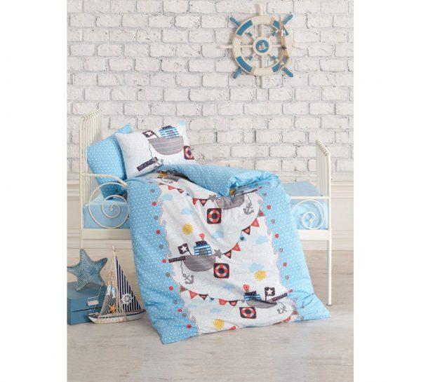 купить Постельное белье Cotton Box для новорожденных Gemici Mavi 100x150