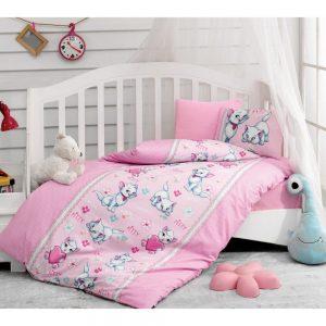 купить Постельное белье Cotton Box для новорожденных Miyav Pembe 100x150