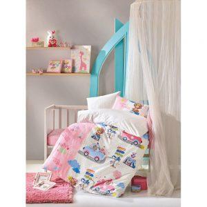 купить Постельное белье Cotton Box для новорожденных Sevimli Seyahat Pembe 100x150